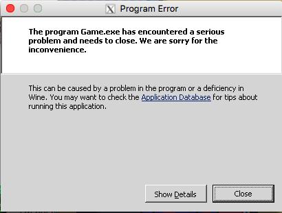 Error Mac Crash