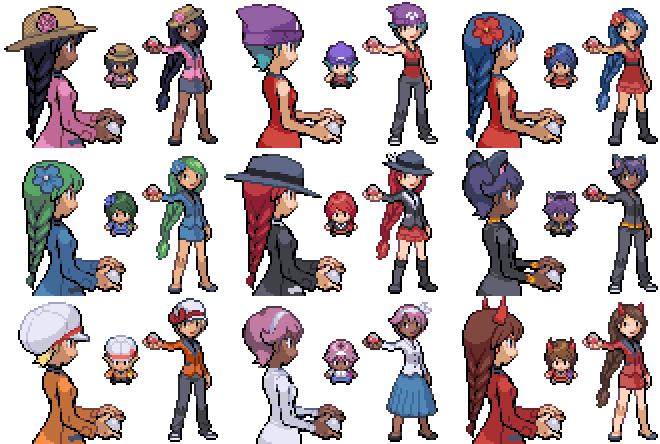 Girls as pokemon