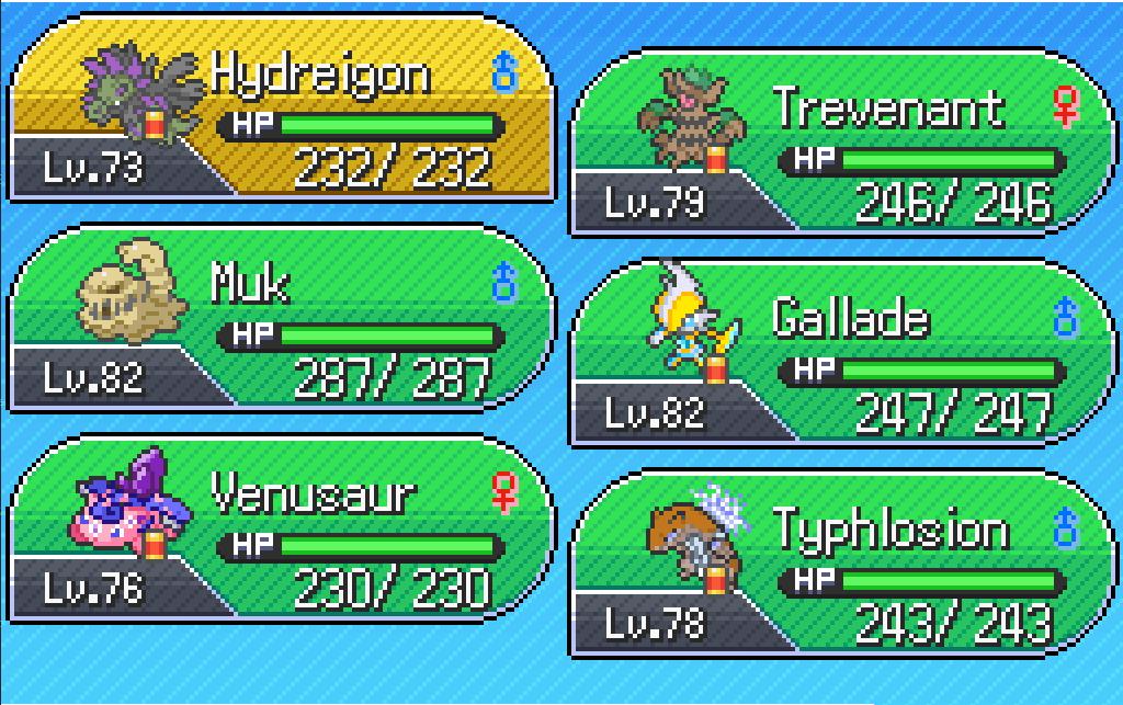 Pokemon Insurgence Team
